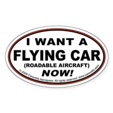 "Flying Car ""Want"" Decal"