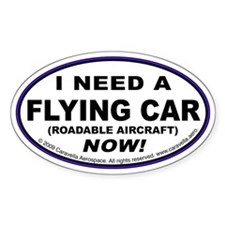 "Flying Car ""Need"" Decal"