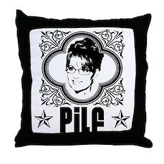 Sarah Palin PILF Throw Pillow