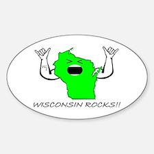 WISCONSIN ROCKS!! Oval Decal