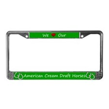 Green We Love Our American Cream Draft Horses