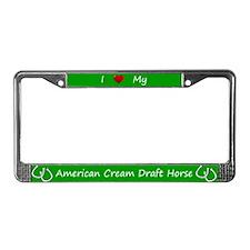 Green I Love My American Cream Draft Horse