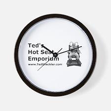 Ted's Hot Seat Emporium Wall Clock