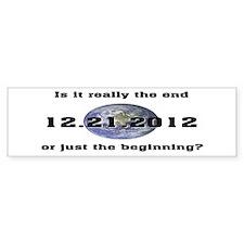 12.21.2012 Bumper Bumper Sticker