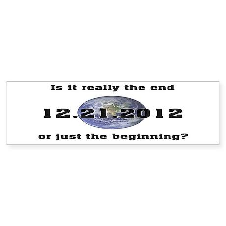 12.21.2012 Bumper Sticker