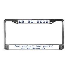 12.21.2012 License Plate Frame