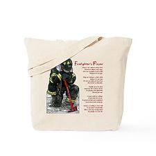 Firefighter Prayer Tote Bag