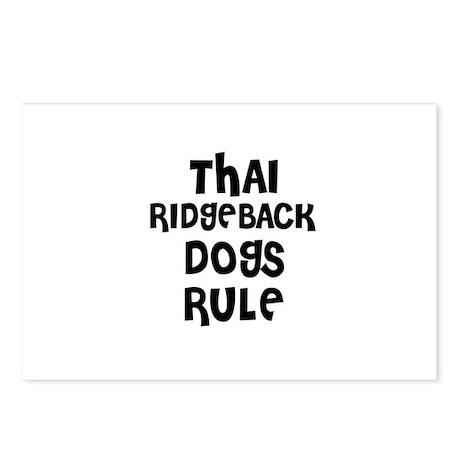 THAI RIDGEBACK DOGS RULE Postcards (Package of 8)