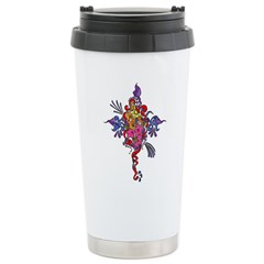 FLOWERISTIC Stainless Steel Travel Mug