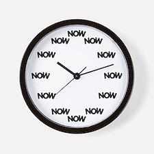 Unique Now Wall Clock