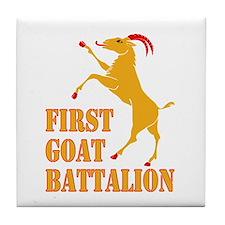 First Goat Battalion Tile Coaster