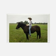 April Cowgirl Rectangle Magnet