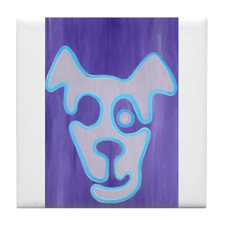 One Eyed Jack Russell Tile Coaster