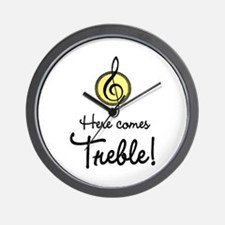 Cute Here comes trouble Wall Clock