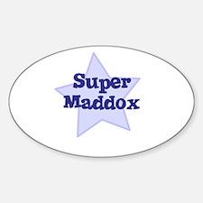 Super Maddox Oval Decal