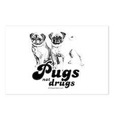 Pugs not drugs -  Postcards (Package of 8)
