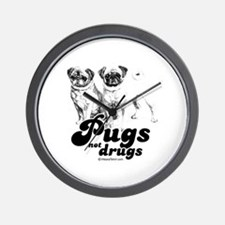 Pugs not drugs -  Wall Clock