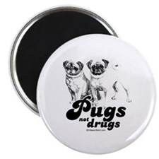 "Pugs not drugs - 2.25"" Magnet (10 pack)"