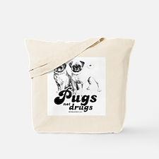 Pugs not drugs -  Tote Bag