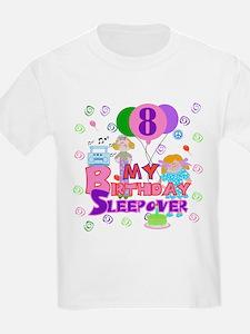 8th Birthday Sleepover Kids T-Shirt