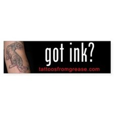 014 Tattoos From Grease Bumper Bumper Sticker