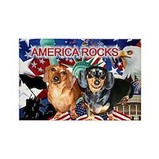 Love USA Rectangle Magnet