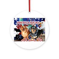 Love USA Ornament (Round)