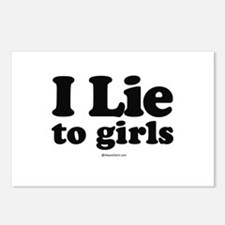 I Lie to Girls -  Postcards (Package of 8)