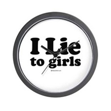 I Lie to Girls -  Wall Clock