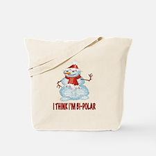 BI-POLAR SNOWMAN Tote Bag