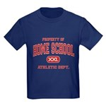 Property of Home School Athletic Dept. Kids Dark T