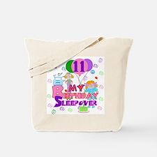 11th Birthday Sleepover Tote Bag
