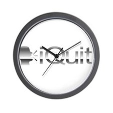iQuit (Chrome) Wall Clock