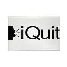 iQuit (Black) Rectangle Magnet
