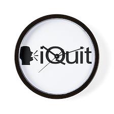 iQuit (Black) Wall Clock