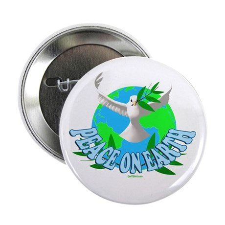 """Peace On Eaarth Holiday 2.25"""" Button"""