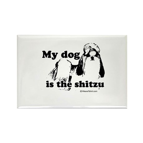 My dog is the SHITzu - Rectangle Magnet (10 pack)