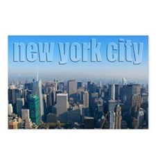 NY Skyline Looking North Postcards (Package of 8)