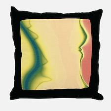 Woman's Torso Installation Ar Throw Pillow