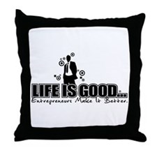 Cute Business owner Throw Pillow