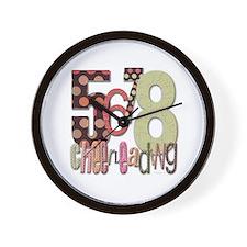 5678 Cheerleading Wall Clock