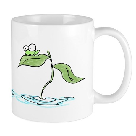 duck and frog in love Mug