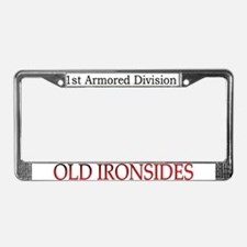 1ST ARMORED DIV License Plate Frame