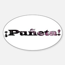 Puñeta Oval Decal
