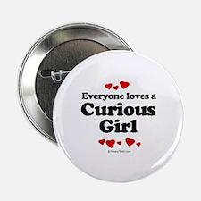 Everyone loves a Curious Boy - Button