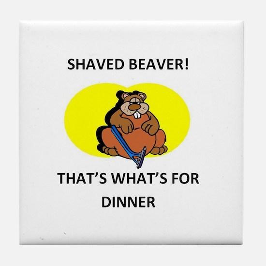 Cute Oregon state beavers Tile Coaster
