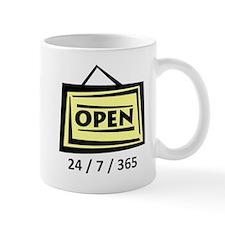 Open 24/7/365 Mug