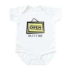 Open 24/7/365 Infant Bodysuit