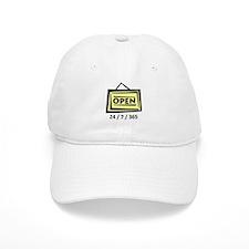 Open 24/7/365 Baseball Cap