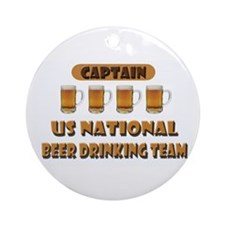 US National Beer Drinking Team Ornament (Round)
